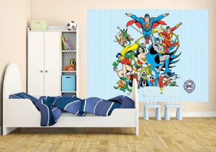 Super-heroes wallpaper mural